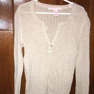 VICTORIAS SECRET Knit Cream blouse